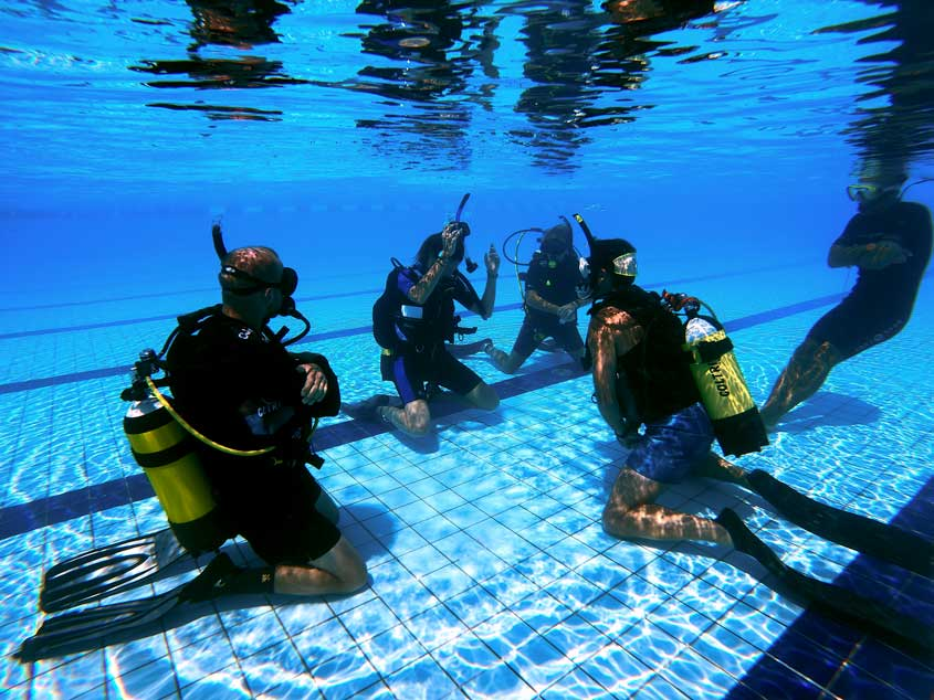 padi diving instructor course